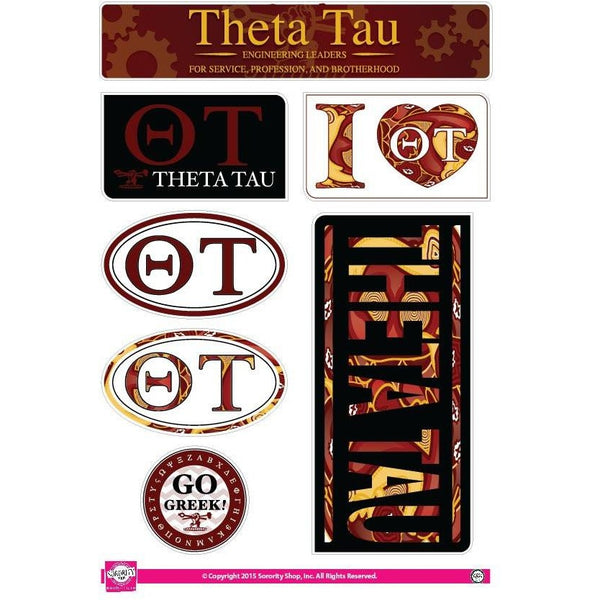 Theta Tau Lifestyle Sticker Sheet