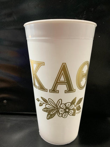 Kappa Alpha Theta White and Gold Cup
