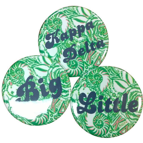 Kappa Delta Lilly Printed Buttons