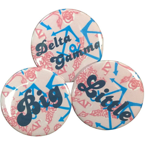 Delta Gamma Lilly Printed Buttons