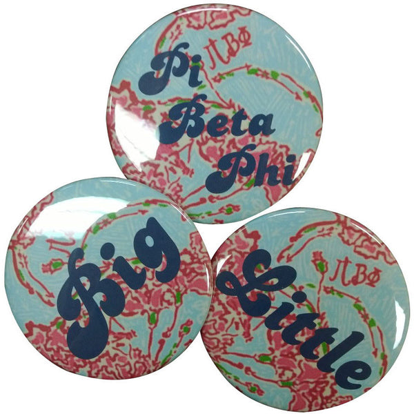 Pi Beta Phi Lilly Printed Button