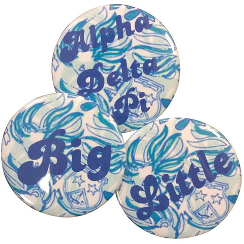 Alpha Delta Pi Lilly Printed Buttons