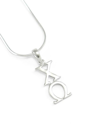 Chi Omega Sterling Silver Lavaliere