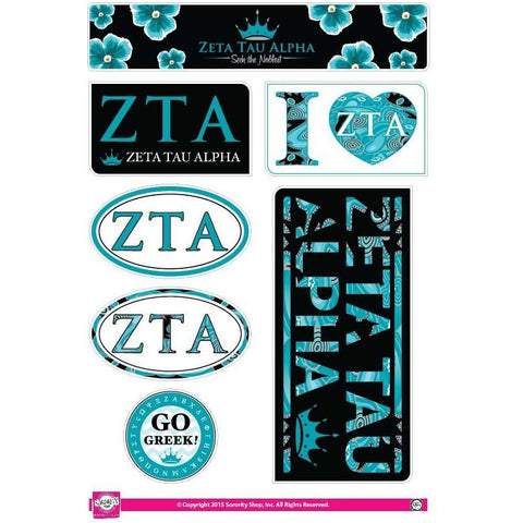 Zeta Tau Alpha Lifestyle Stickers