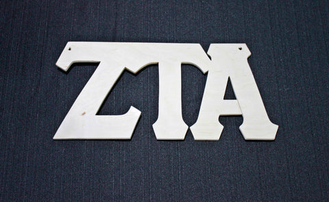 Zeta Tau Alpha Wood Door Deck