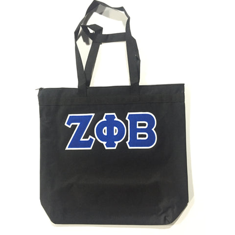 3 Letter Black Tote Bag