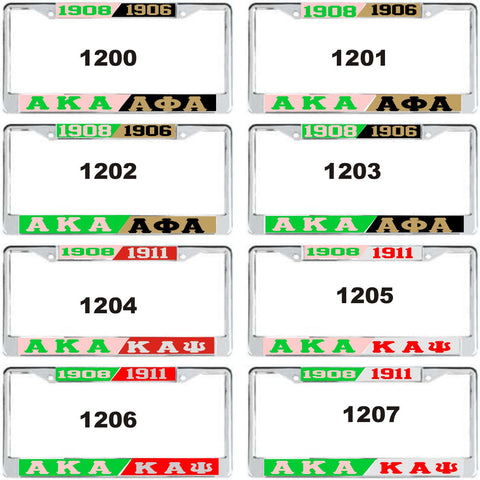 Alpha Kappa Alpha-Alphas & Kappas License Tag