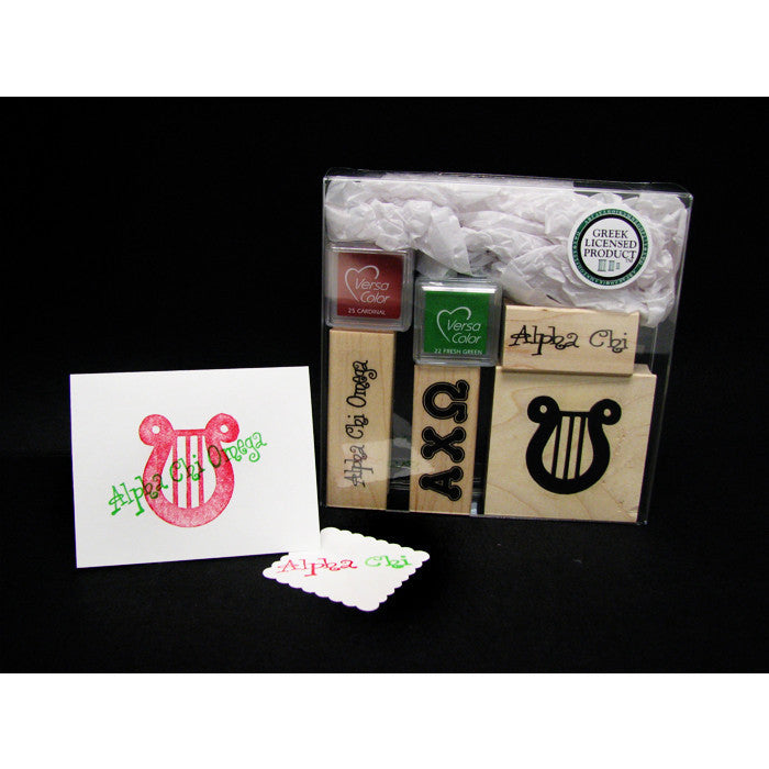 Alpha Chi Omega Rubber Stamp Kit