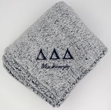 Sorority Cozy Blanket With Embriodery