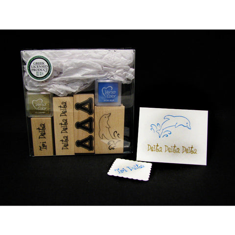 Delta Delta Delta Rubber Stamp Kit