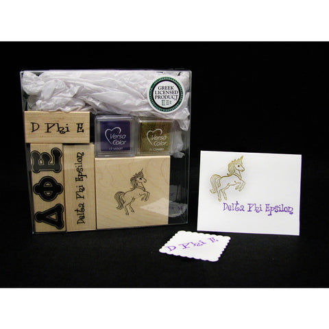 Delta Phi Epsilon Rubber Stamp Kit
