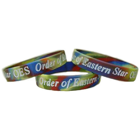 Order of the Eastern Star Silicone Bracelets