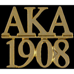 Alpha Kappa Alpha Chapter Bar Lapel Pin