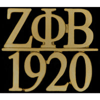 Zeta Phi Beta Greek Bar Gold Lapel Pin