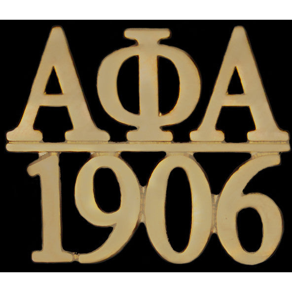 Alpha Phi Alpha Chapter Bar Gold Lapel Pin
