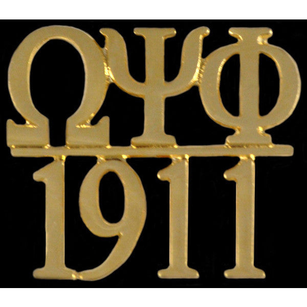 Omega Psi Phi Chapter Bar Gold Lapel Pin
