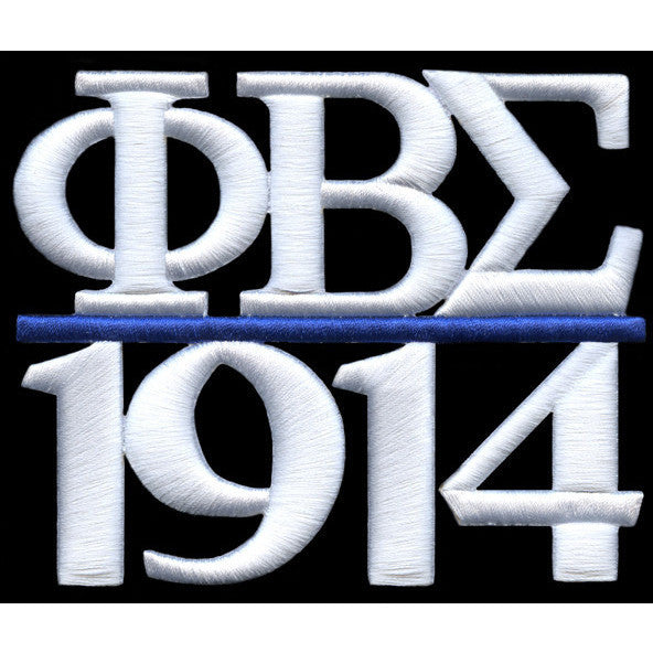 Phi Beta Sigma Chapter Style Embroidery Patch White