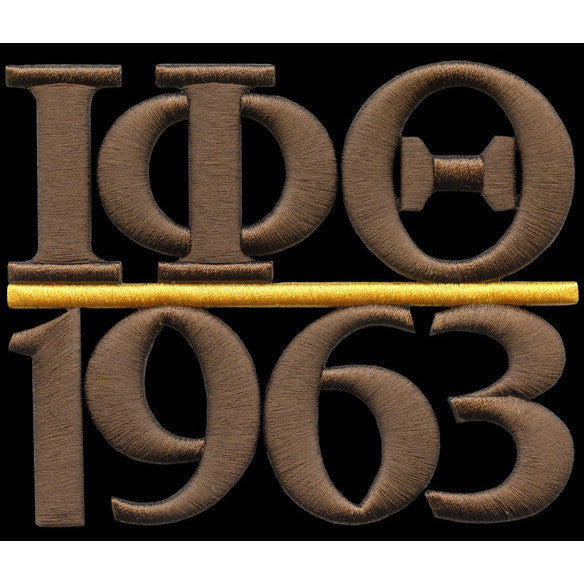 Iota Phi Theta Chapter Style Embroidery Patch Brown