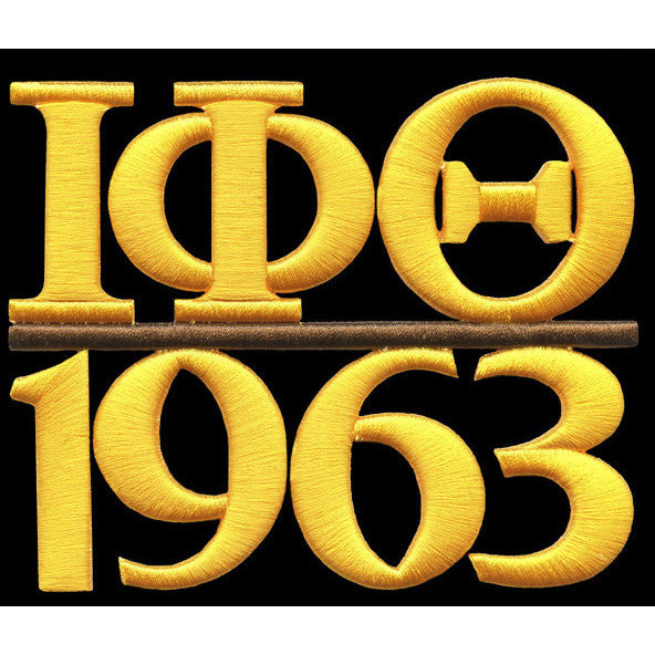 Iota Phi Theta Chapter Style Embroidery Patch Gold