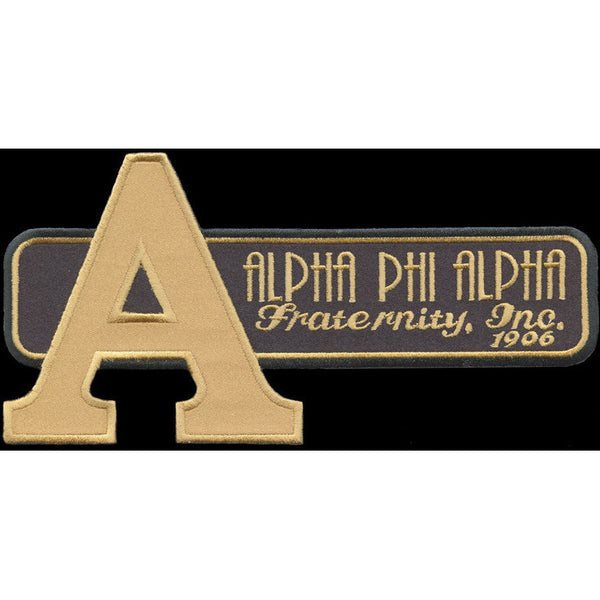 Alpha Phi Alpha Retro Satin Twill Embroidery Patch