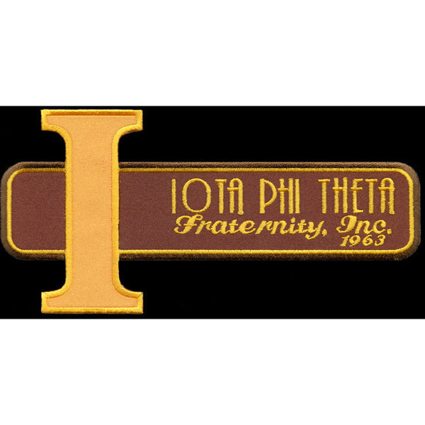 Iota Phi Theta Retro Satin Twill Embroidery Patch