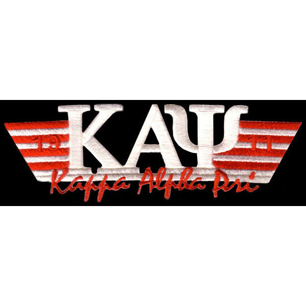 Kappa Alpha Psi Wing Style Embroidery Patch White
