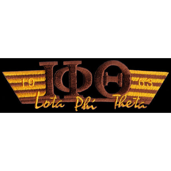 Iota Phi Theta Wing Style Embroidery Patch Brown