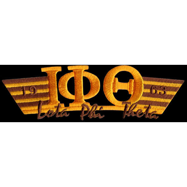 Iota Phi Theta Wing Style Embroidery Patch Gold