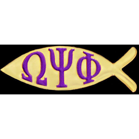 Omega Psi Phi Fish Pin