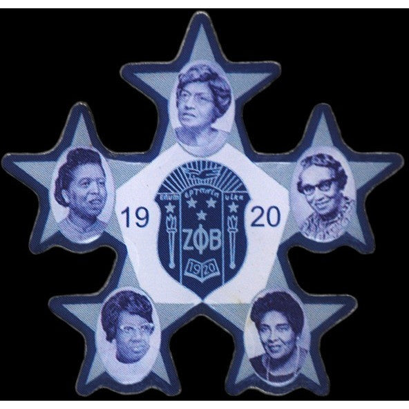 Zeta Phi Beta Founders' Faces Pin