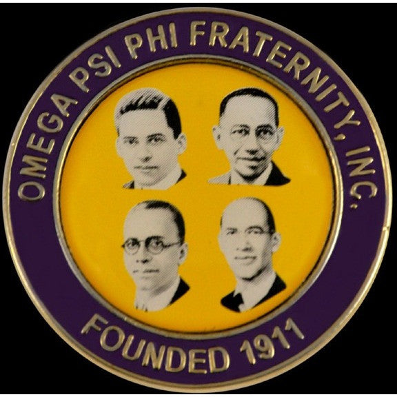 Omega Psi Phi Founders' Faces Pin