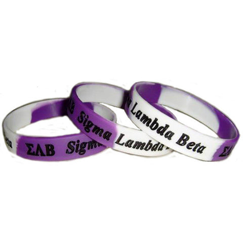 Multi-Color Silicone Bracelets - Sigma Lambda Beta