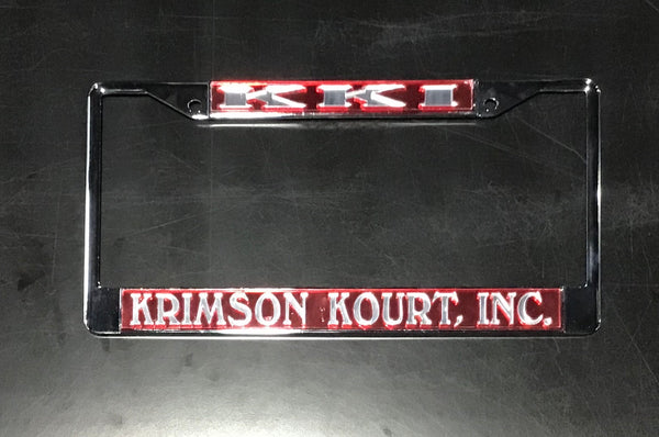 Krimson Kourts, Inc. License Frame