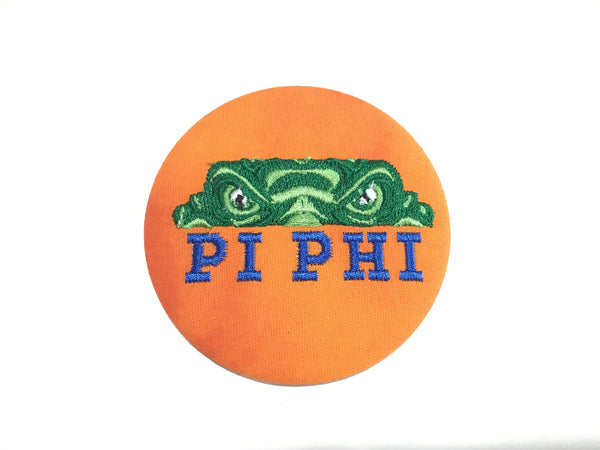 Pi Beta Phi Gator Eyes Embroidered Button