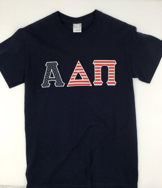 Alpha Delta Pi USA Flag Tee