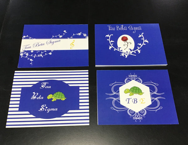 Tau Beta Sigma Blank Greeting Cards 8 Pack