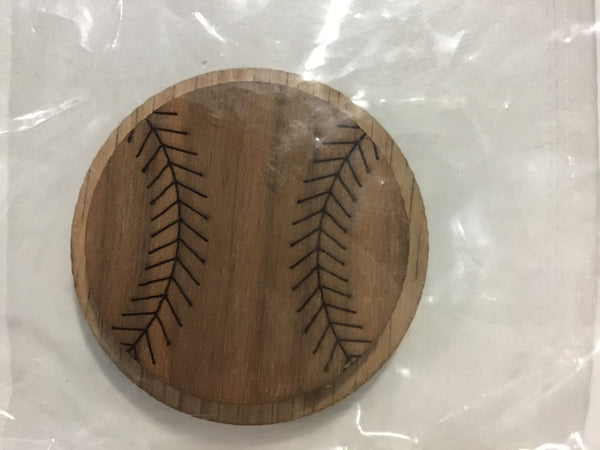 Baseball Oak-Backed Symbol