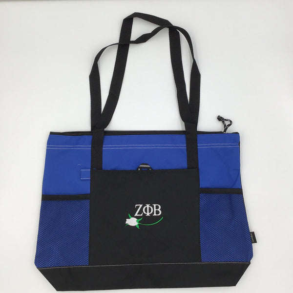 Zeta Phi Beta Gemline Zippered Tote