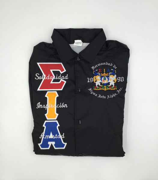 Sigma Iota Alpha Crossing Jacket With Script
