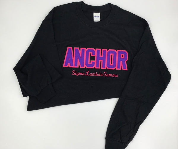 Sigma Lambda Gamma Word Black Long Sleeve