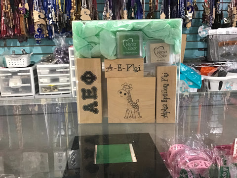 Alpha Epsilon Pi Rubber Stamp Kit