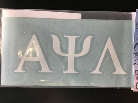 Alpha Psi Lambda Block Decal