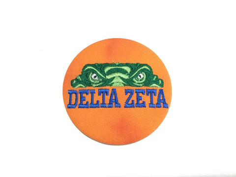 Delta Zeta Gator Eyes Embroidery Button