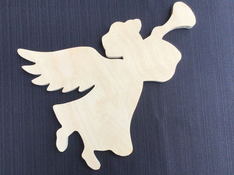Angel w/ Horn Wood Board
