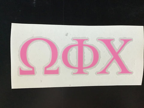 Omega Phi Chi Block Decal