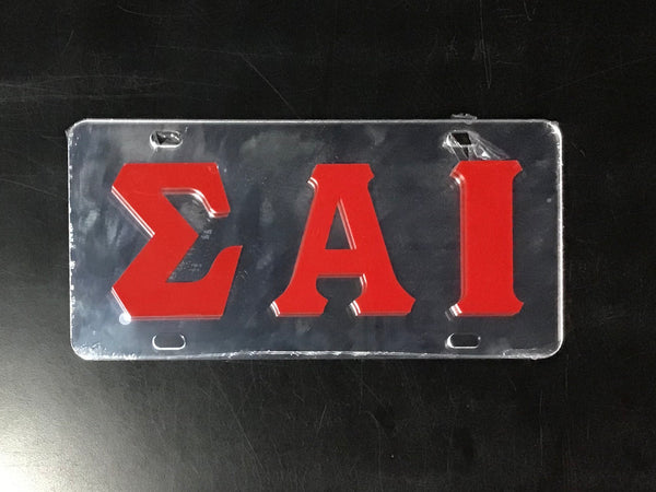 Sigma Alpha Iota Raised Greek Letters License Plate