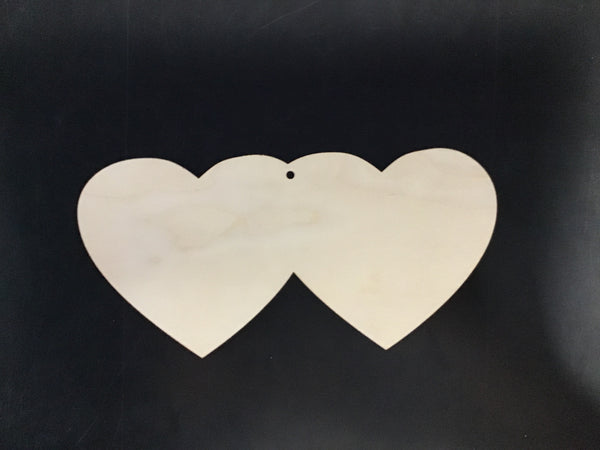 Double Heart Wood Board