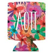 Alpha Omicron Pi Floral Coozie
