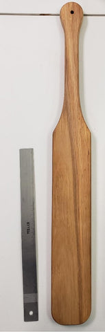"Unstained Oak Paddle ""F"""