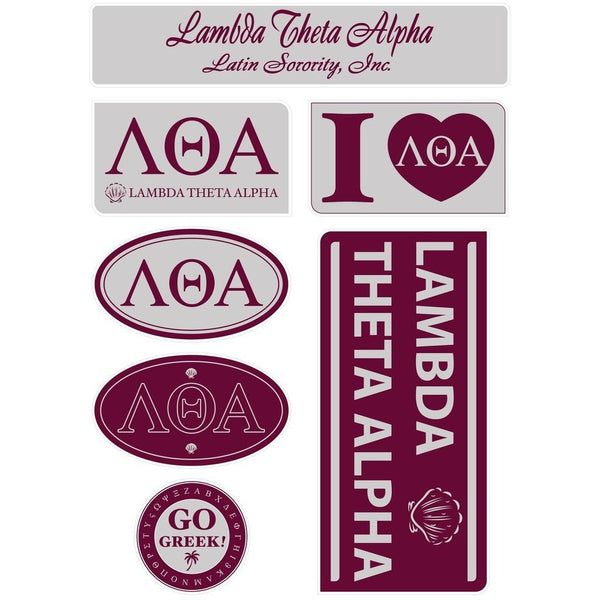 Lambda Theta Alpha Lifestyle Sticker Sheet